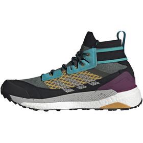 adidas TERREX Free Hiker Blue Hiking Shoes Men legend earth/grey two/signal cyan